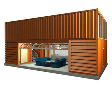 amazing homes and offices built from shipping containers die libelle. Black Bedroom Furniture Sets. Home Design Ideas